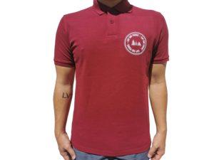 CAP SUR PORNIC - Polo Rouge Bordeaux Homme